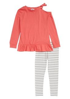Splendid Cold Shoulder Top & Leggings Set (Toddler Girls & Little Girls)