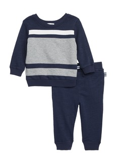 Splendid Colorblock Sweatshirt & Sweatpants Set (Baby)
