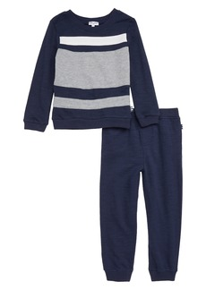 Splendid Colorblock Sweatshirt & Sweatpants Set (Toddler Boys & Little Boys)