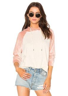 Splendid Colorblock Velour Sweatshirt in Pink. - size L (also in M,S,XS)