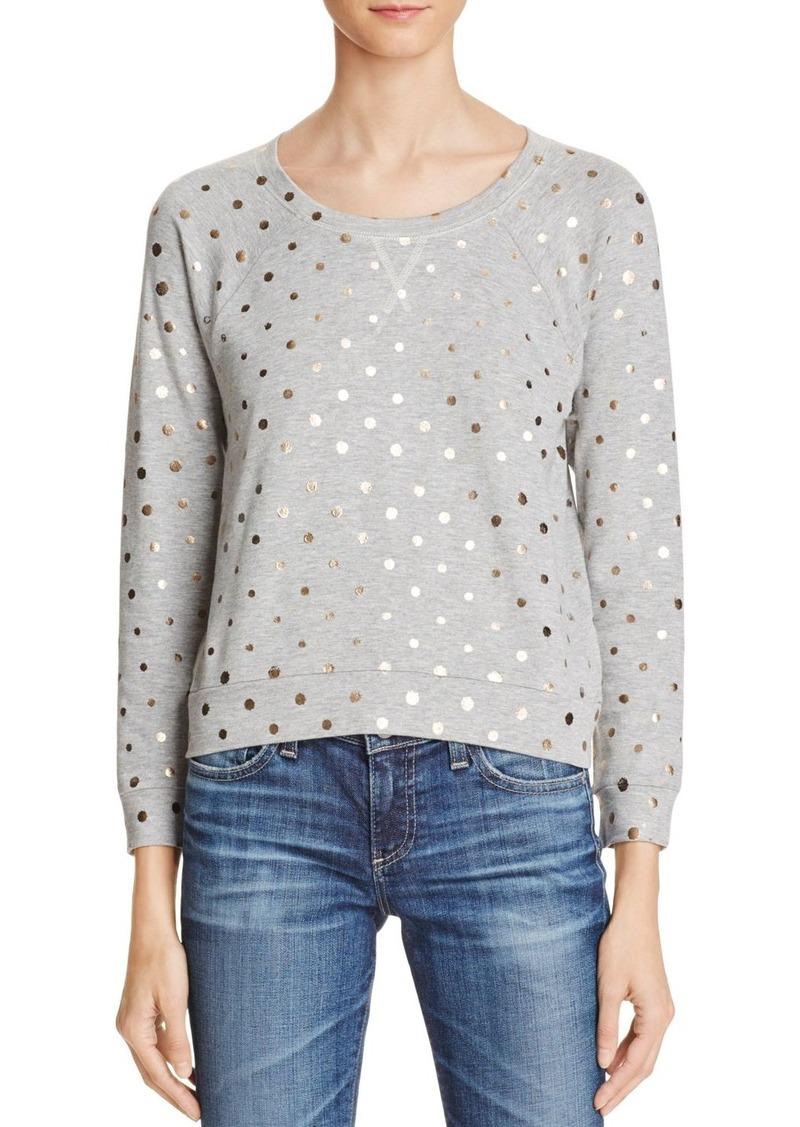 Splendid Corrine Metallic Polka Dot Sweatshirt