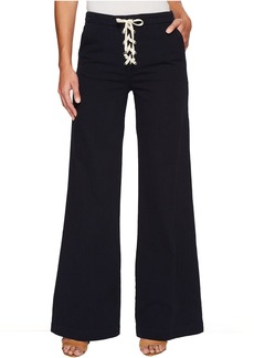 Cotton Twill Lace-Up Pants