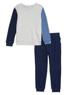 Splendid Crewneck Sweatshirt & Sweatpants Set (Toddler Boys & Little Boys)