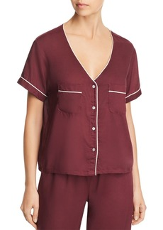 Splendid Cropped Short Sleeve PJ Top