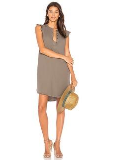 Splendid Crosshatch Dress in Olive. - size L (also in S,XS)