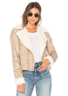 Splendid Delancey Faux Fur Jacket in Tan. - size M (also in L,XS)