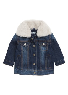 Splendid Denim Jacket with Removable Faux Fur Collar (Baby)