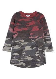 Splendid Dip Dye Camo Sweatshirt Dress (Toddler Girls)