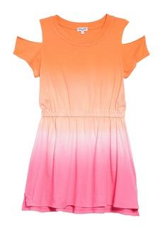 Splendid Dip Dye Cold Shoulder Dress (Toddler Girls, Little Girls & Big Girls)