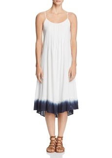 Splendid Dip-Dye Pintuck Dress