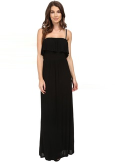 Splendid Drapey Lux Ruffle Maxi Dress