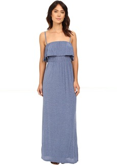 Drapey Lux Ruffle Maxi Dress