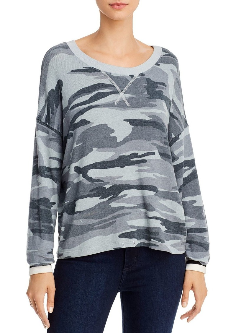 Splendid Drop-Shoulder Camo Top