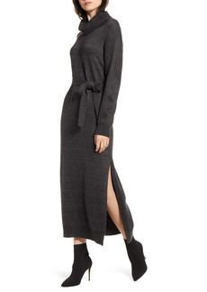 Splendid Elton Cowl Neck Wrap Sweater Dress