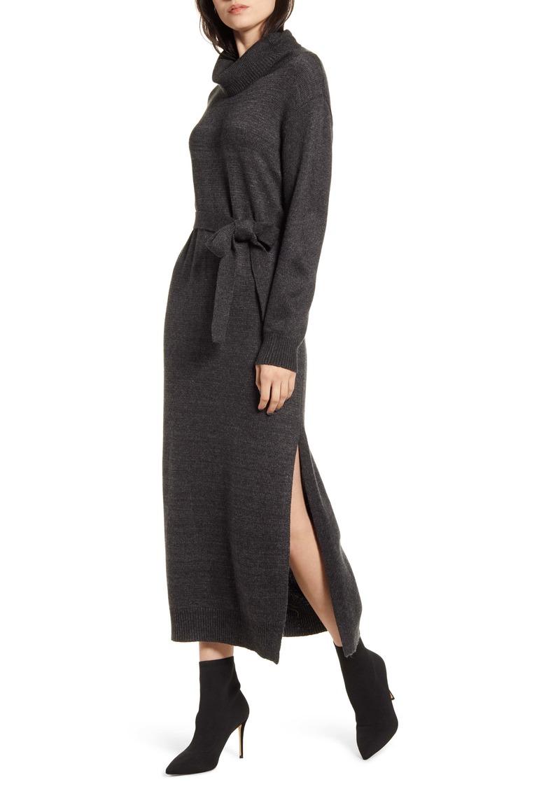 Splendid Elton Cowl Neck Wrap Sweater Dress