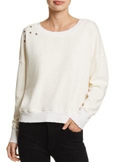 Splendid Embellished Cropped Sweatshirt - 100% Exclusive