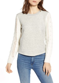Splendid Emerson Mixed Media Sweater