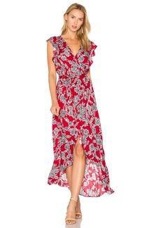 Splendid Etched Floral Wrap Dress