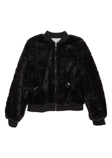 Splendid Faux Fur Bomber Jacket (Big Girls)
