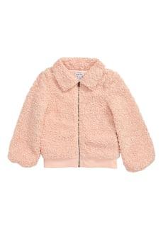 Splendid Faux Fur Zip Jacket (Little Girls)