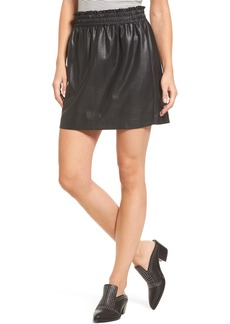 Splendid Faux Leather Paperbag Skirt
