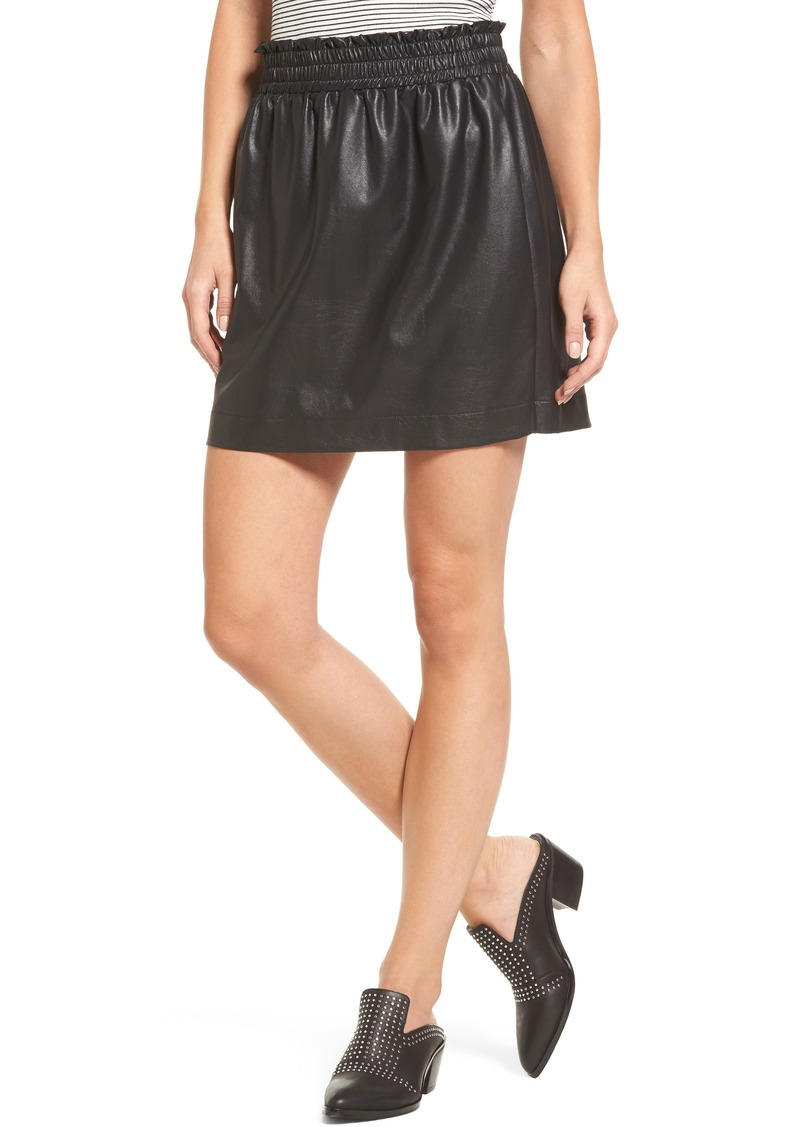 558b37114a Army Green Faux Leather Skirt