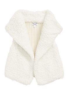 Splendid Faux Shearling Vest (Baby Girls)