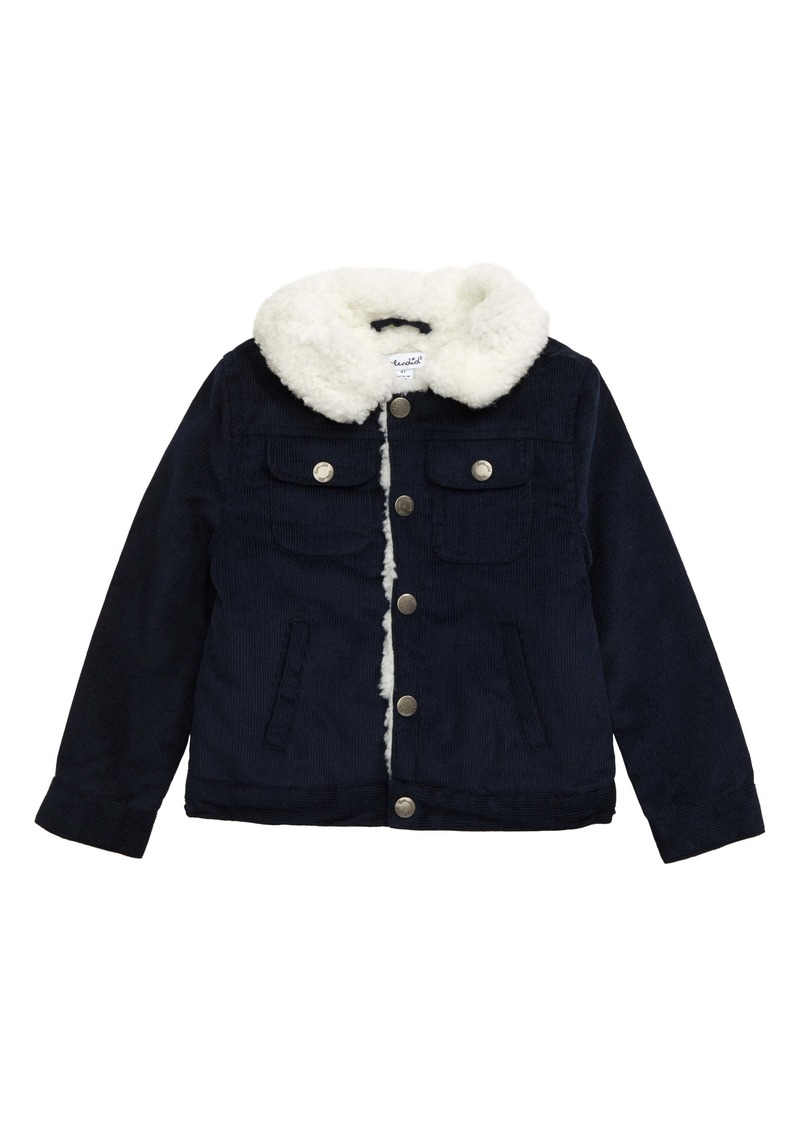 Splendid Fleece Collar Corduroy Jacket (Toddler Boys & Little Boys)