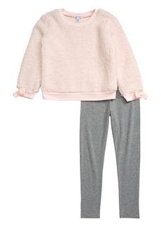 Splendid Fleece Sweatshirt & Leggings Set (Little Girls)