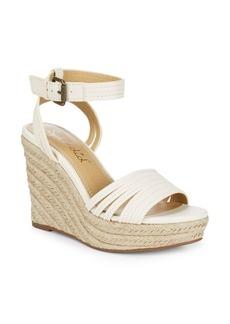 Splendid Flemming Leather Espadrille Wedge Sandals