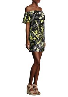 Splendid Floral-Print Off-The-Shoulder Dress