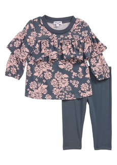 Splendid Floral Top & Leggings Set (Baby Girls)