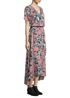 Splendid Floral Wrap Maxi Dress