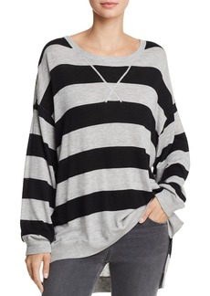 Splendid Flynn Striped High/Low Sweater