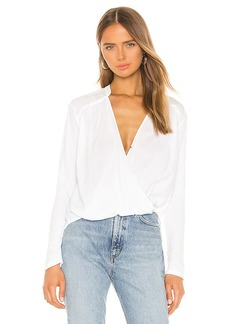 Splendid Foley Long Sleeve Surplice Top