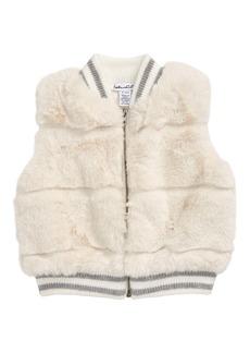Splendid Front Zip Faux Fur Vest (Baby)