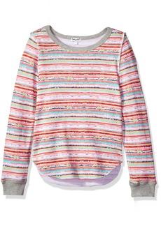 Splendid Girls' Big Stripe Print Sweater