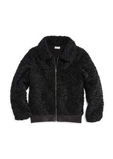 Splendid Girls' Faux Fur Textured Jacket - Big Kid