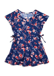 Splendid Girls' Floral Flutter-Sleeve Dress - Big Kid