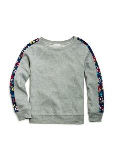 Splendid Girls' Floral-Sleeve Sweatshirt - Big Kid