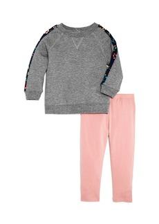 Splendid Girls' Floral-Stripe Sweatshirt & Leggings Set - Little Kid