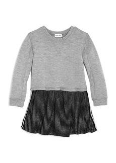Splendid Girls' Layered-Look Sparkle-Stripe Dress - Little Kid