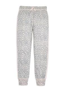 Splendid Girls' Leopard-Print Jogger Pants, Big Kid - 100% Exclusive