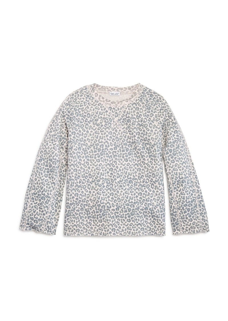 Splendid Girls' Leopard-Print Top, Big Kid - 100% Exclusive