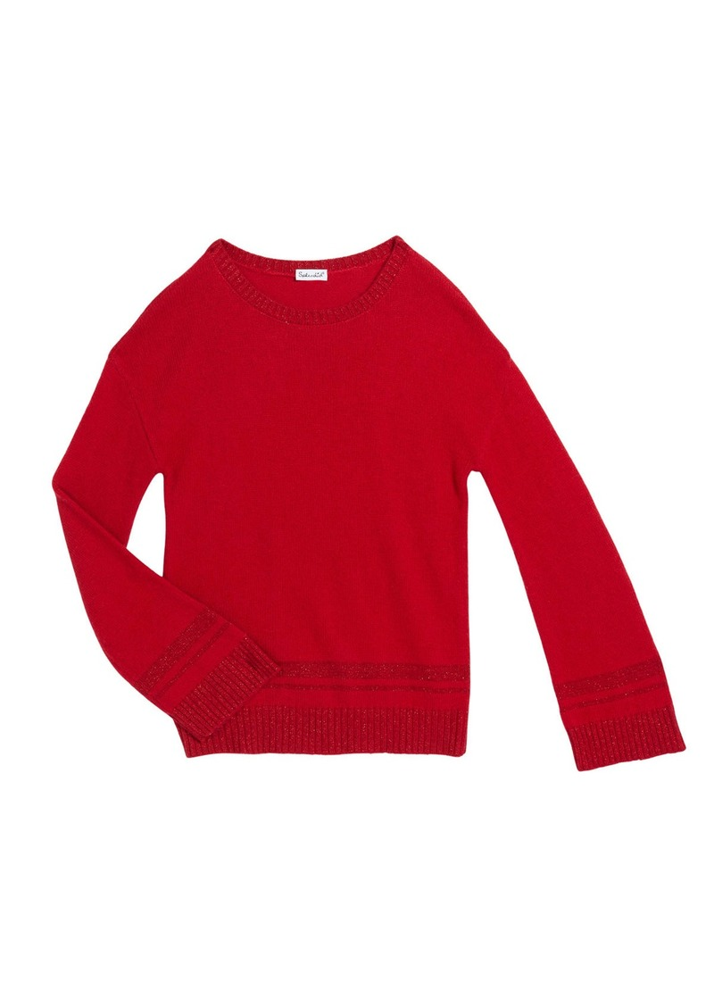 Splendid Girl's Lurex Knit Sweater  Size 7-14