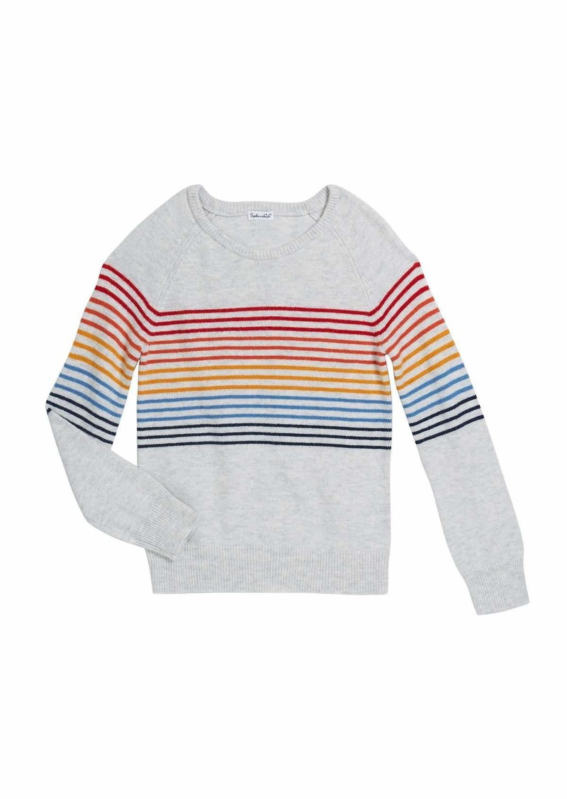 Splendid Girl's Rainbow Stripe Knit Top  Size 7-14