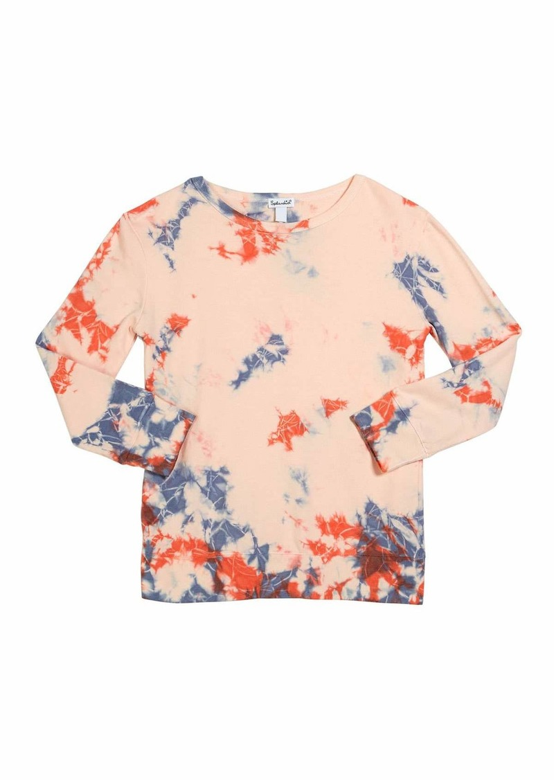 Splendid Girl's Seaside Tie Dyed French Terry Top  Size 7-14