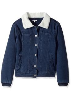 Splendid Girls' Slim Size Baby French Terry Sherpa Jacket