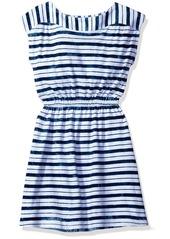 Splendid Girls' Slim Size Indigo Tie Dye Dress Stripe