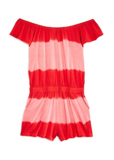 Splendid Girls' Off-the-Shoulder Tie-Dyed Romper - Big Kid